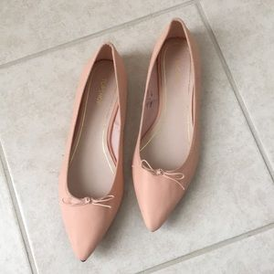 Topshop flats pinkish cream color